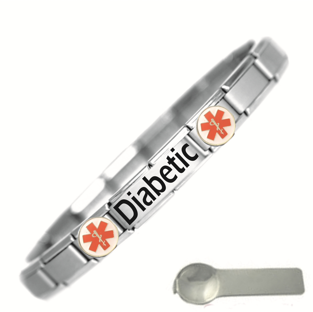 amazon glamorous cool and jewelry steel majestic with medicalert com inspiration seizure decoration wristbands stylish vibrant idea multiple sclerosis medical marvelous coolmedid stainless bracelet ideas emblem id centerpieces orange inches