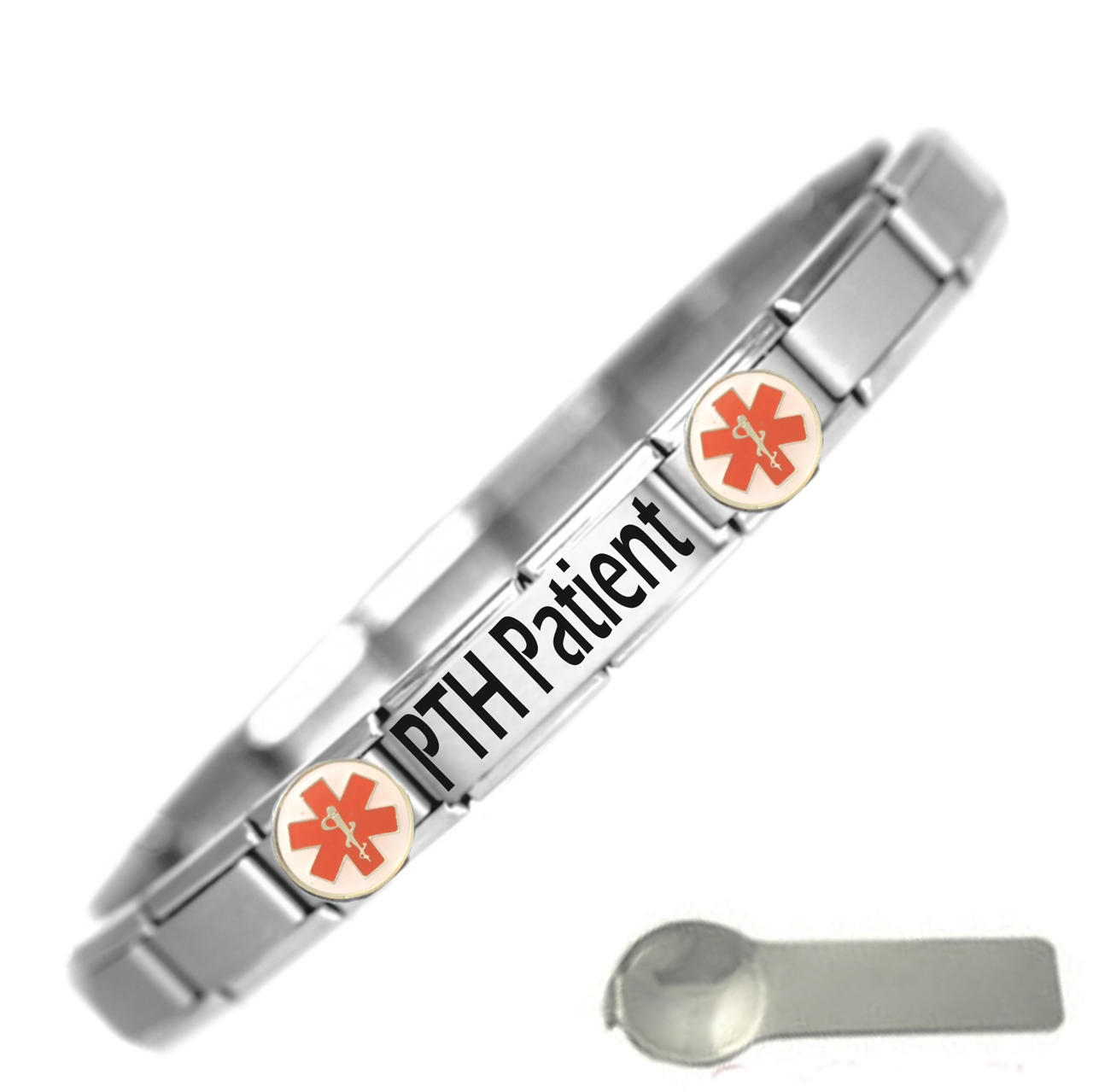 Picture of PTH Patient Medical Alert Stainless Steel Bracelet