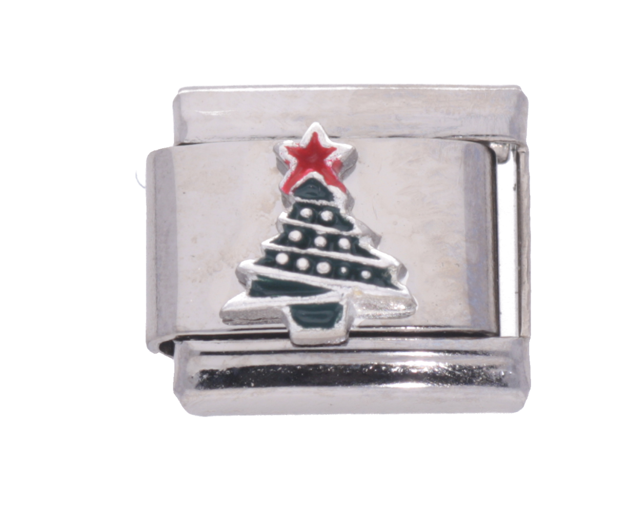 Picture of  La Cima 925 Silver Christmas Tree with enamel